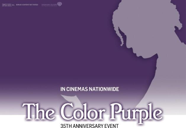 The color purple vintage movie poster print