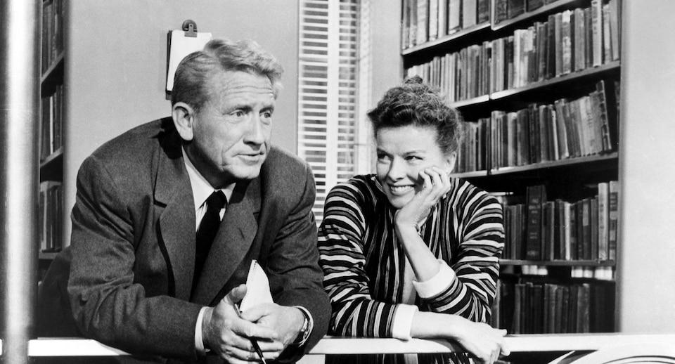 Spencer Tracy and Katherine Hepburn in the 1957 film, Desk Set